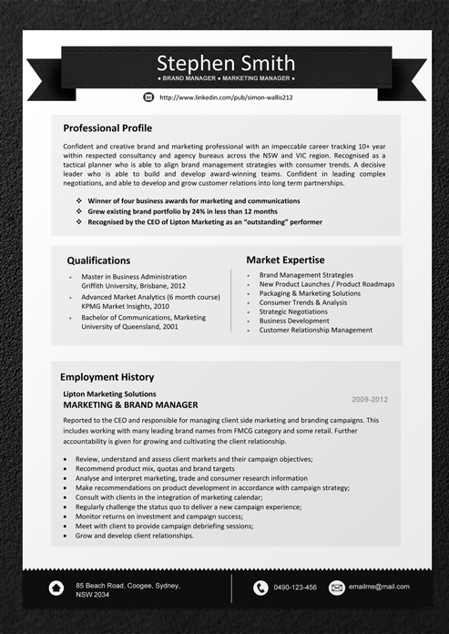 Resume Templates Download - Professional Resume Template ...