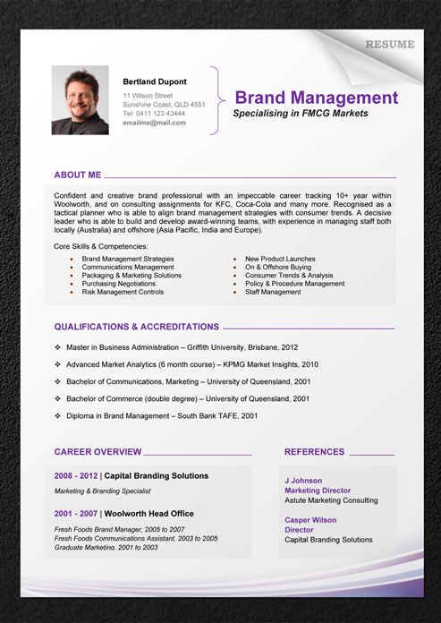 download professional resume template